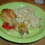 Пиле с ориз (с куркума)