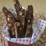 Коледни шоколадови бишкоти