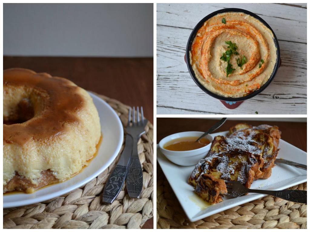 Крем карамелена торта/ Хумус/ Пържени филийки по френски