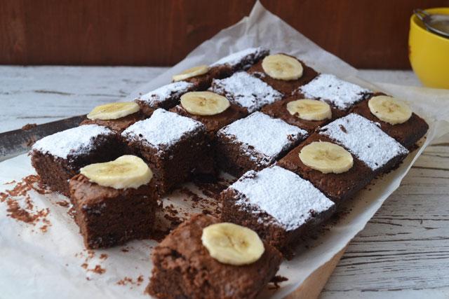 Рецепта за браунис с нутела и банани